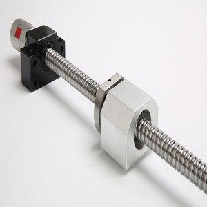 Nuevo tornillo de bola C7 con tuerca con reborde SFU 1605 2005 SFU 2010 250mm - 1550mm 5-20mm laed con terminal BKBF15 mecanizado para máquina CNC
