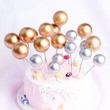 20 adet/paket 2-4cm top kek Topper yaratıcı Cupcake kart bayrakları bebek duş doğum günü partisi kek dekorasyon