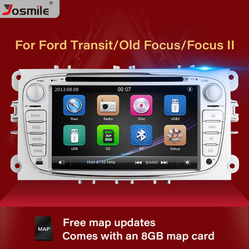 2 din Car Radio Multimedia For Ford Focus 2 3 mk2 Mondeo 4 Kuga Fiesta Transit Connect S-MAXC-MAX Stereo Audio GPS Navigation image