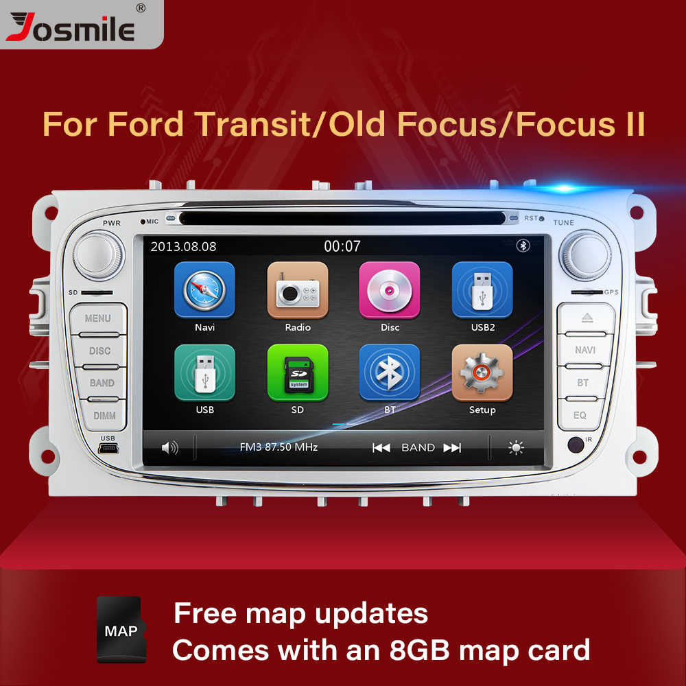 2 din Car Radio Multimedia For Ford Focus 2 3 mk2 Mondeo 4 Kuga Fiesta Transit Connect S-MAXC-MAX Stereo Audio GPS Navigation