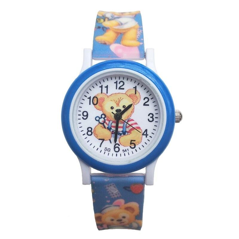 Cartoon Bear Pattern Baby Kids Watches Life Waterproof Children Watch Kid Rubber Strap Quartz Clock Girls Boys Xmas Present Gift