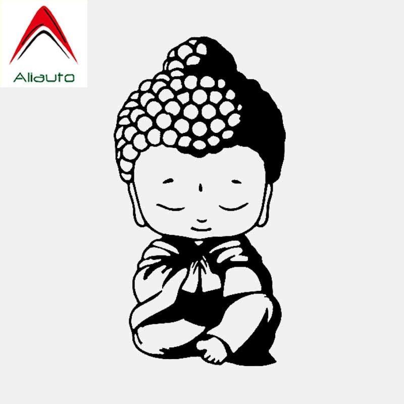Aliauto Personality Car Sticker Buddha Buddhism Religion Religious Automobiles & Motorcycles Decorative Vinyl Decal,16cm*9cm