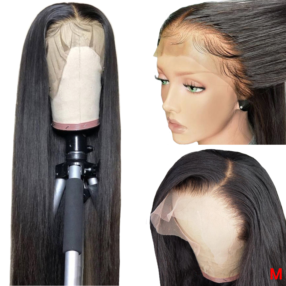 360 Lace Frontal Wig Pre Plucked With Baby Hair Natural Hairline Peruvian Straight Remy 13x6 13x4 Lace Front Human Hair Wigs