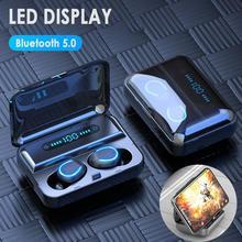 F9 5 אלחוטי אוזניות IPX7 עמיד למים אוזניות משחקי אוזניות עובד על כל אנדרואיד iOS טלפונים חכמים סטריאו Bluetooth אוזניות