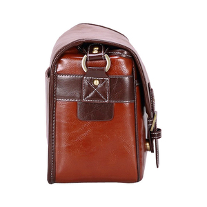 Image 3 - Luxury Camera Case Handbag Waterproof Shoulder Messenger Bag Fashion Retro PU Leather DSLR Case Gadget Bag for Sony Canon Nikon
