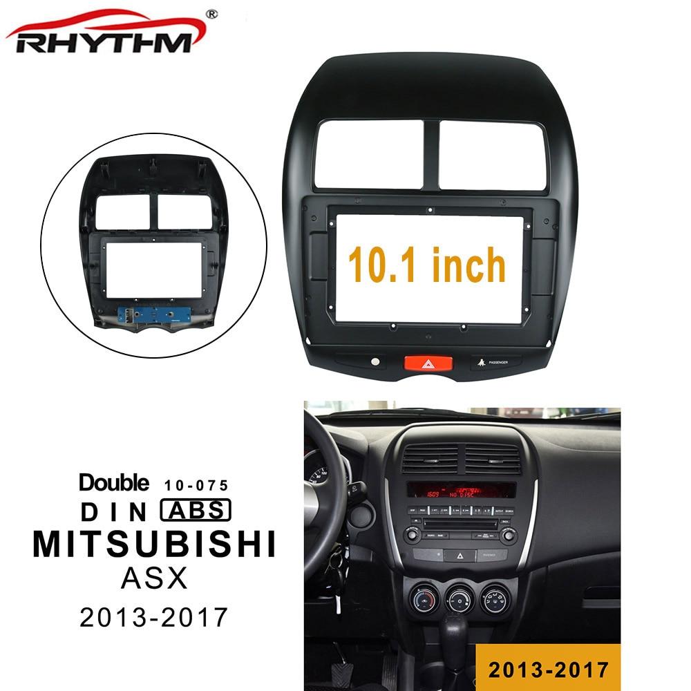 Car Fascia Dash Kit Installation Facia Panel Emergency Light Dvd Frame For MITSUBISHI ASX 2013-2017 2DIN 10.1 Inch Player