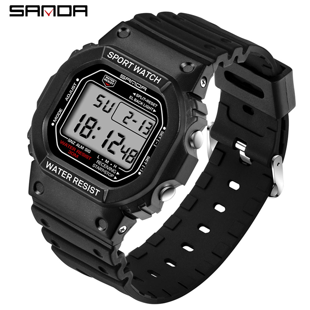 SANDA Fashion Professional Sports Watch Men Women Waterproof Military Watches Shock Men's Retro Analog Quartz Digital Watches