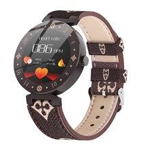 Le Donne Nobili di modo Astuto Della Vigilanza LV88S Per La Ragazza regalo Signore di fitness Orologi in pelle Impermeabile Smartwatch Donna Orologio Android IOS