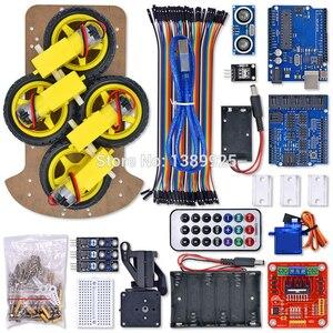 Image 3 - Nieuwe Avoidance Tracking Motor Bluetooth Smart Robot Car Chassis Kit Speed Encoder Ultrasone Module Voor Arduino Kit