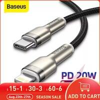 Cavo Baseus tipo C per iPhone 12 11 Pro Xs Max X 8 cavo da USB tipo C a iPhone 20W PD ricarica rapida per cavo dati iPad cavo di ricarica