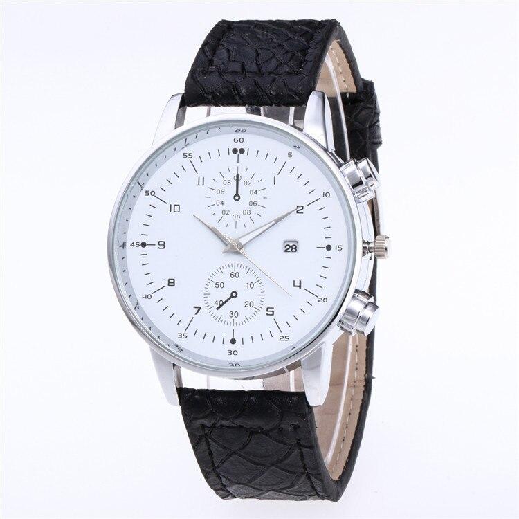 Escala com Calendário Promoção Minimalista Moda Cinto Relógio Multicolorido Rosto Olhos Falsos Cinco Agulha Relógios Personalidade 2020