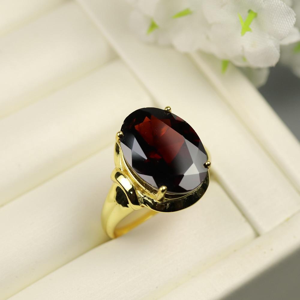Gemstone-Ring Garnet 925-Sterling-Silver Big-Size Natural-Black Women Ct Rare Oval