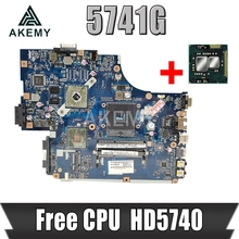 Akemy For Acer aspire 5741 5741G Laptop Motherboard MBWJR02001 NEW70 LA-5891P HM55 DDR3 HD5740 Free CPU