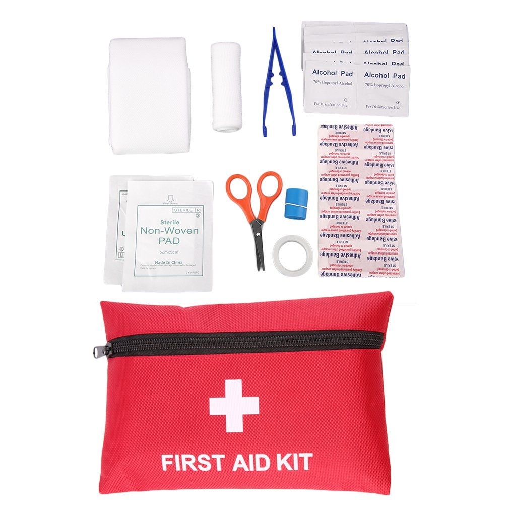 12 Pcs/set Camping Emergency Survival Tools Outdoor Sport Travel First Aid Kits Rescue Medical Treatment Pack Drop Shipping