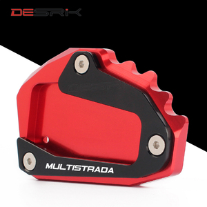 Image 2 - CNC Aluminum Motorcycle Accessories Side Stand Enlarger pad plate kickstand For DUCATI Multistrada 1200 1260 1200S 1200GT 950