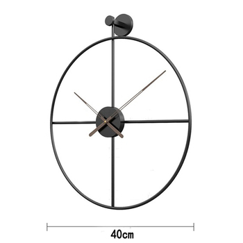 2020 Creative Wall Clock Modern Design For Home Office Decorative Hanging Living Room Classic Brief Metal Wall Watch 7