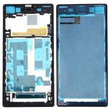 For Sony Xperia Z1 / C6902 / L39h / C6903 / C6906 / C6943 Front Housing LCD Frame Bezel Plate Replacement mooncase лич кожи кожа флип сторона кошелек держателя карты чехол с kickstand чехол для sony xperia z1 l39h грин