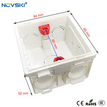 NOVSKI bricolage électrique boîte sombre réglable interne Cassette boîte de jonction pour 86mm Type interrupteur mural et prise, blanc