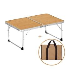 Ensemble de meubles d'extérieur pliants en alliage d'aluminium, Table de pique-nique Portable, Durable, L25x W60x H40cm