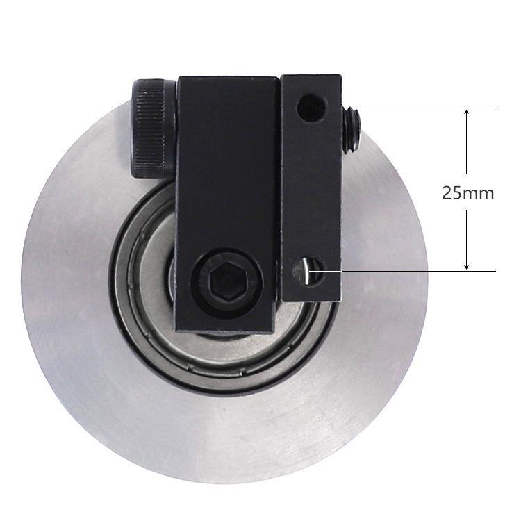 lixar a roda de contato de alumínio da máquina