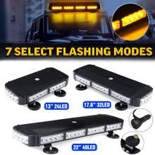 Luz LED para techo del coche, luz estroboscópica de emergencia, luz de trabajo intermitente magnética para remolque de camión y Jeep, 13
