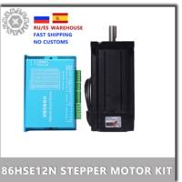 Motor paso a paso de circuito cerrado DL86/HBS86H, 12NM, Nema34 86, circuito cerrado híbrido, 2 fases 86, controlador de Motor paso a paso Nema 34 86HSE12N.