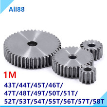 цена на 1 Mold gears is 45 # steel pinion and rack straight gear is gear 10 mm  thickness  gear wheel  43 to 58 tooth hole process