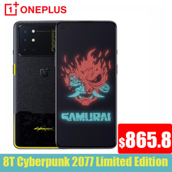 2020 Global Rom Oneplus 8T Cybarpunk Limited Edition 5G Mobile Phone 65W SuperCharge Snapdragon 865 AMOLED Screen One plus 8 T