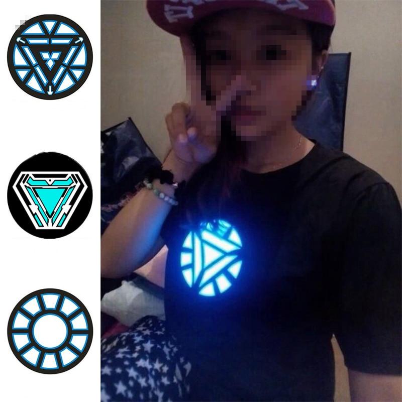 Iron Man Armor Reactor Cosplay Prop Tony Stark Heart Can Voice Control Multiple Lighting Modes 4 Styles Light Avengers Endgame