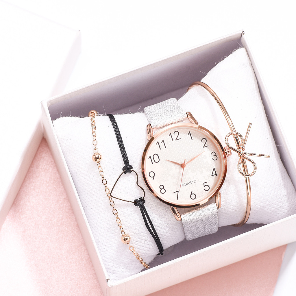 Luxury Girl's Wrist Watch Simple Female Casual Analog Quartz Bracelet Watches Suit Relógio De Mulher FJSL