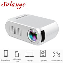 Salange YG320 Mini LED Proyektor Yg300 Versi Upgrade 600 Lumen 320X240 Piksel HDMI USB Audio Home Media Player beamer(China)