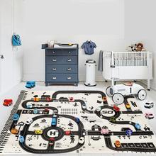 Crawling Blanket Map-Mat-Toys Playing-Mat Game-Carpet Park Newborn-Baby Kids Children