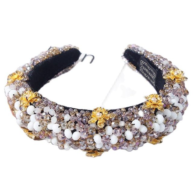 Rhinestone Sponge Velvet luxury Headband 5