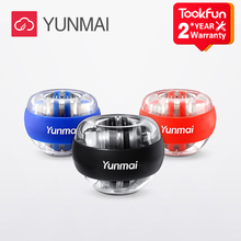 New  YUNMAI LED Wrist Ball Super Gyroscope powerball self-starting Gyro arm force trainer Muscle Relax Gym Fitness Equipment