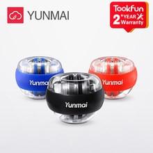 Nova yunmai led bola de pulso super giroscópio powerball auto-partida gyro braço força trainer músculo relaxar ginásio equipamentos de fitness