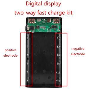Image 3 - Dual USB QC3.0 6x18650 Batteries 5V 9V 12V DIY Power Bank Box Holder Case Quick Charger