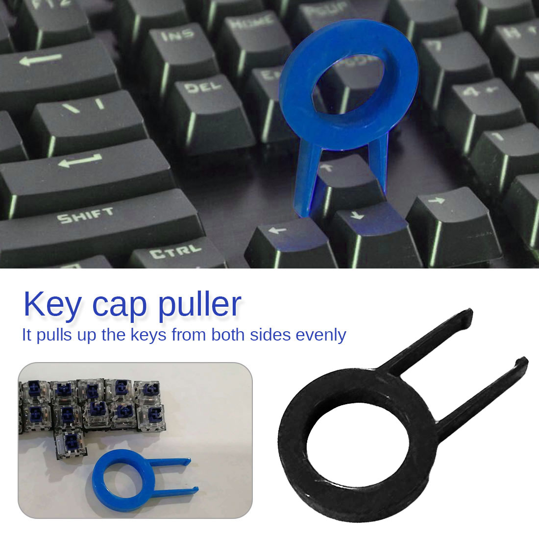 Keycap Puller Mechanical Keyboard Key Cap Round Key Cap Fixing Tool Keycap Puller Remover