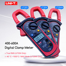 UNI-T Digital Clamp Meter UT203 UT204 UT204A AC DC Voltage Current Ohm Frequency Diode Test Auto Range Multimeter Duty Cycle  uni t ut203 1 4 lcd digital clamp multimeter red black 1 x 9v 6f22 battery