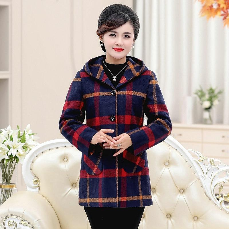 Купить твидовое пальто с капюшоном на раннюю зиму и осень серая красная