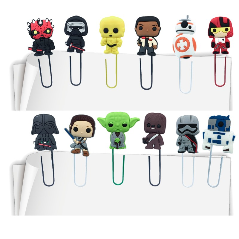 1pcs Star Wars Bookmarks For Books Action Figure Book Marks Office School Stationery Paper Clips For Teacher Kids Birthday Gift
