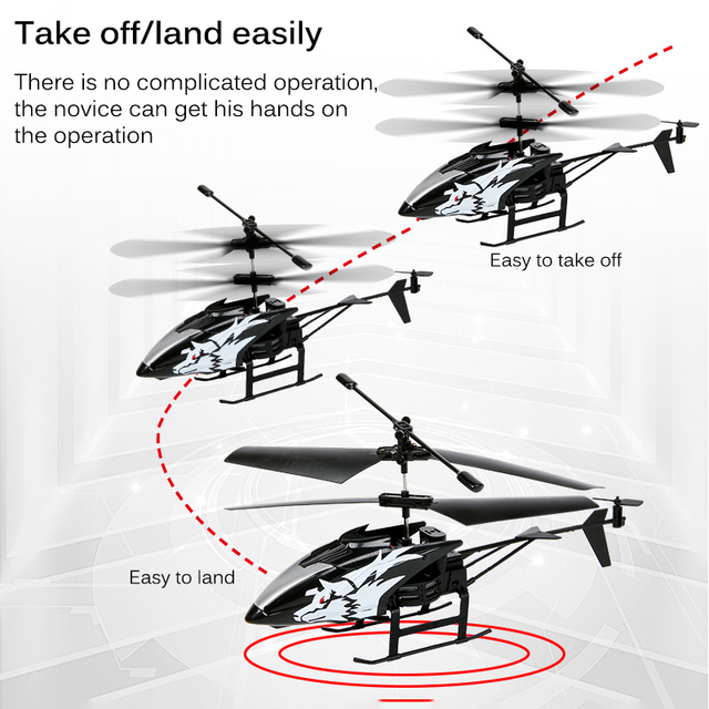 Wireless Remote Control Alloy Aircraft Helicopter Toy Children Plane Toys Nti-Collision 2 Channels RC Toy Kids Birthday Gift 4
