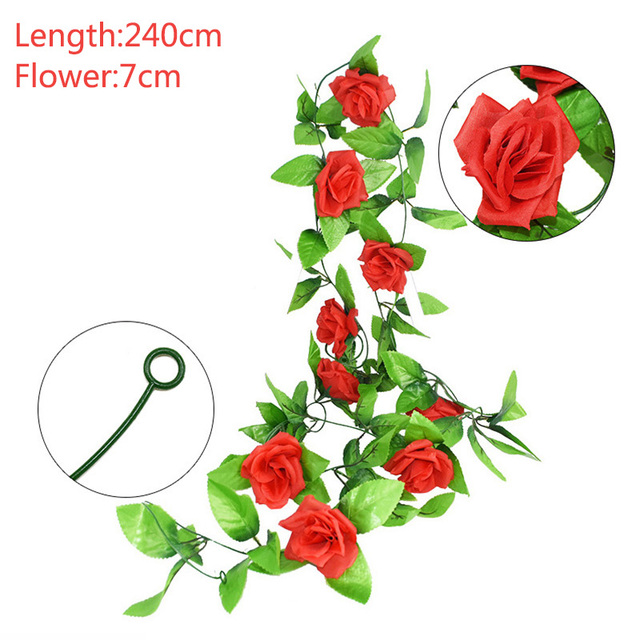 2.4m silk artificial roses flowers