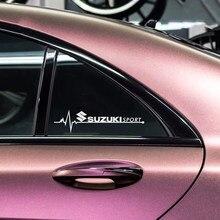 Pegatina de decoración para ventana lateral de coche, emblema deportivo para SUZUKI sx4 lets 2 bandit escudo djebel 250 gsr 600 rf 400, 2 uds.