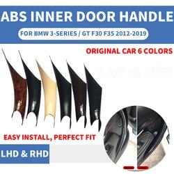 Stylizacja wnętrza samochodu Panel drzwi uchwyt wewnętrzna ciągnąć ochronna osłona ramy wykończenia beżowy czarny dla BMW 3/GT 4 serii f30 F35 2013-19