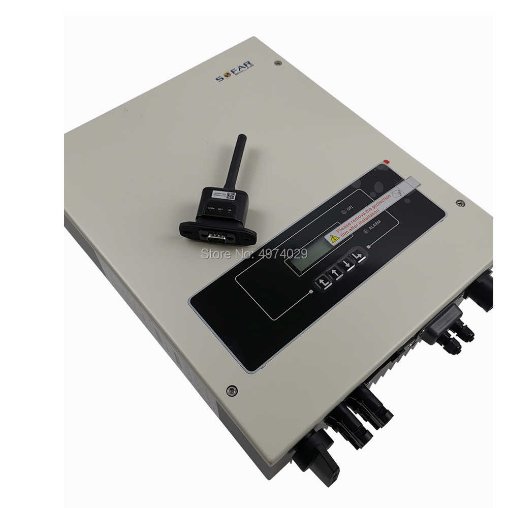 5000W שמש גריד עניבה מהפך עם טהור סינוס גל פלט 2 MPPT מעגלים 90V-580VDC קלט כדי 180V-276VAC פלט עם WIFI