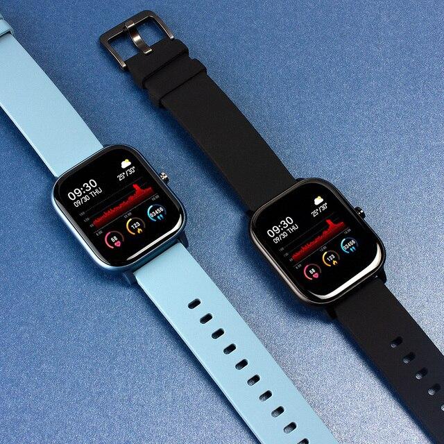 COLMI P8 1.4 pouces montre intelligente hommes pleine touche Fitness Tracker tension artérielle horloge intelligente femmes GTS Smartwatch pour Xiaomi 2