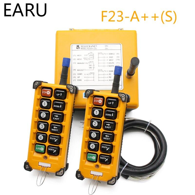220VAC 12V 24V 36V 380V sans fil grue télécommande F23 A + + S industrielle télécommande grue bouton poussoir commutateur