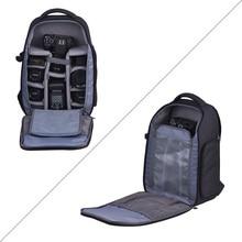 Andoer saco da câmera digital dslr vídeo foto sacos mochila para 2 câmeras dslr 6 lente tripé flash acessórios para nikon canon sony