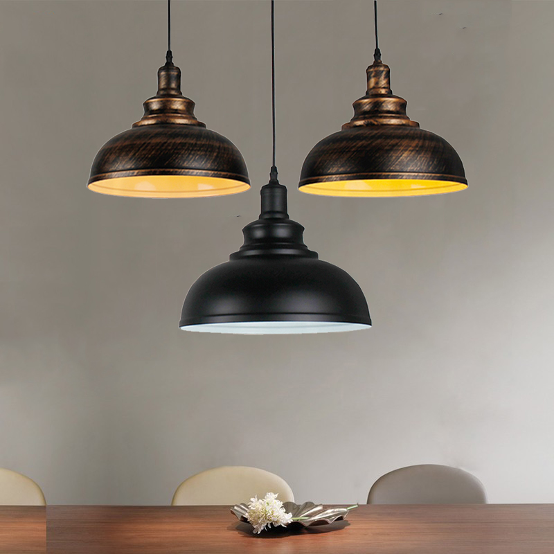 Vintage Loft Retro Lamp Bar Kitchen Office Study Dining Room Cafe Restaurant Pub Chandelier Hanging Lamp Headlight Pendant Lamp
