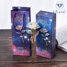 Romantic Colorful Fairy Rose Artificial Galaxy Rose Flowers for Girl Friend Valentine's Day Gift Wedding Party Home Decor
